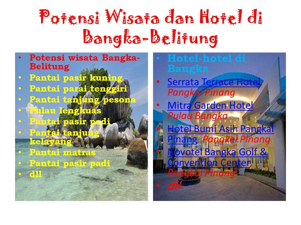 Potensi Wisata dan Hotel di Bangka-Belitung