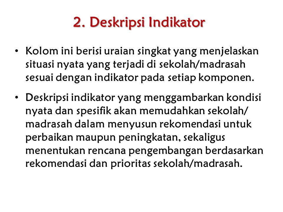 2. Deskripsi Indikator