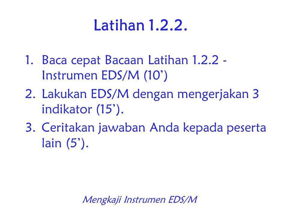 Mengkaji Instrumen EDS/M