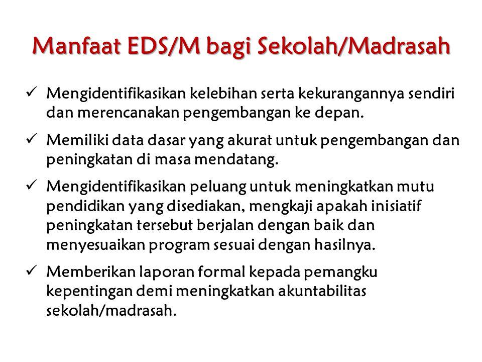 Manfaat EDS/M bagi Sekolah/Madrasah