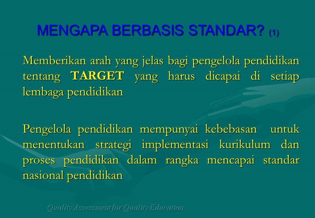 MENGAPA BERBASIS STANDAR (1)
