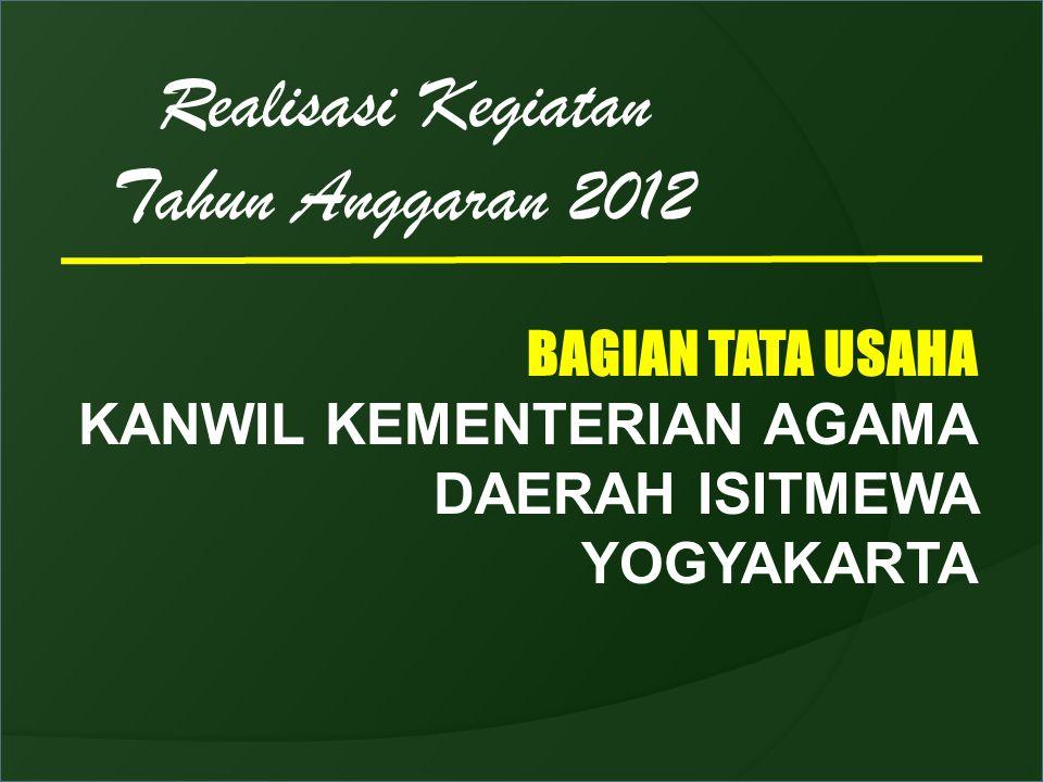 Realisasi Kegiatan Tahun Anggaran 2012 BAGIAN TATA USAHA