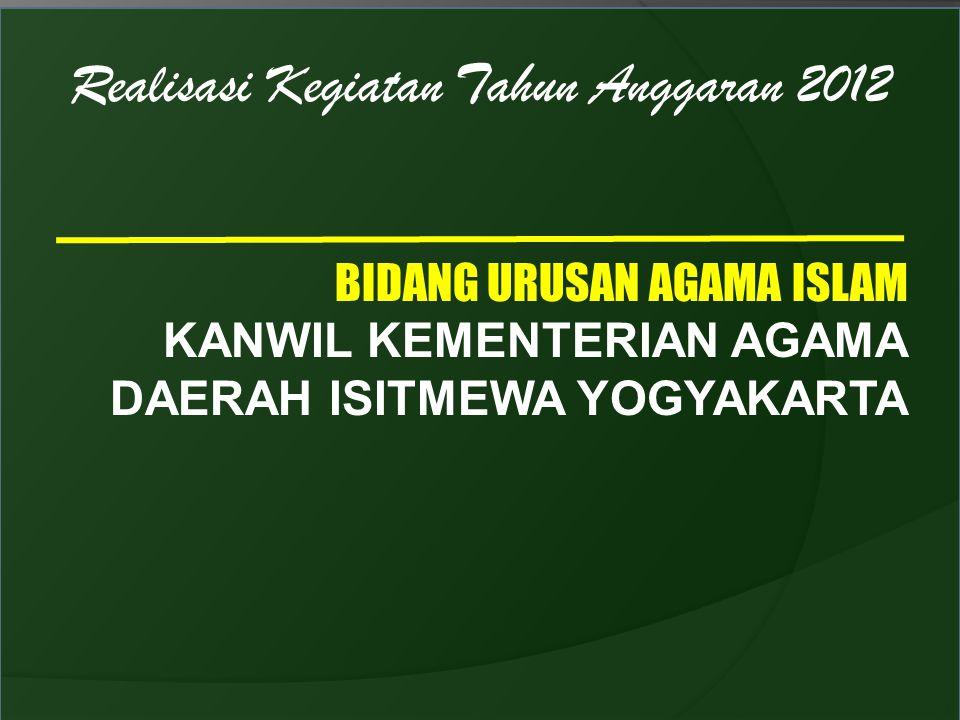 Realisasi Kegiatan Tahun Anggaran 2012