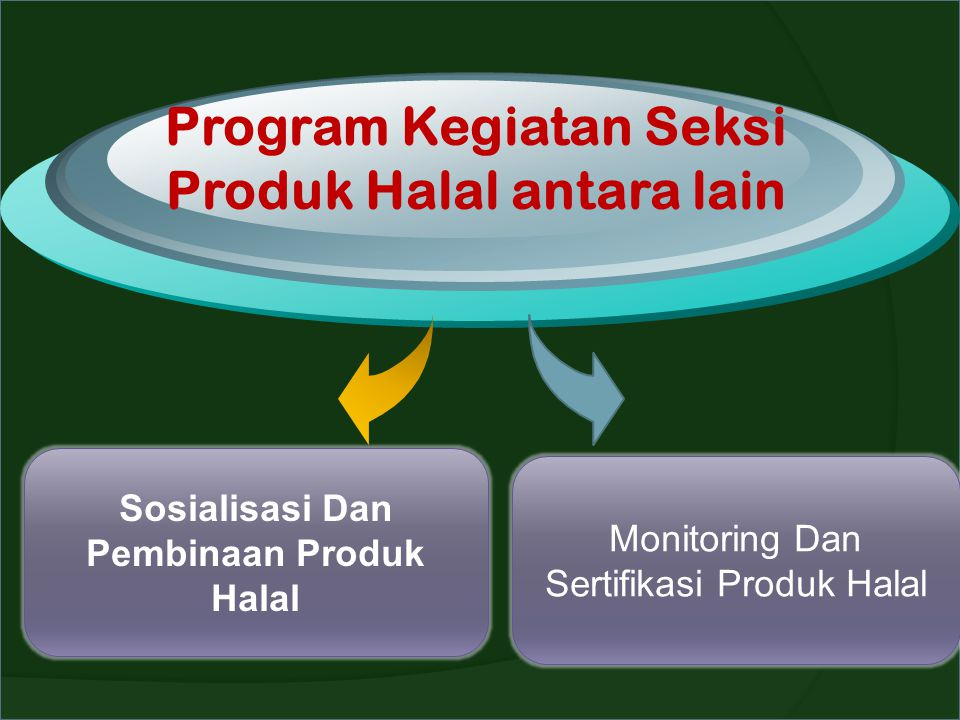 Program Kegiatan Seksi Produk Halal antara lain