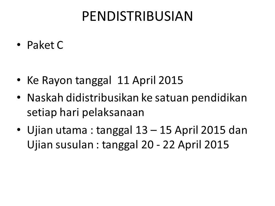 PENDISTRIBUSIAN Paket C Ke Rayon tanggal 11 April 2015
