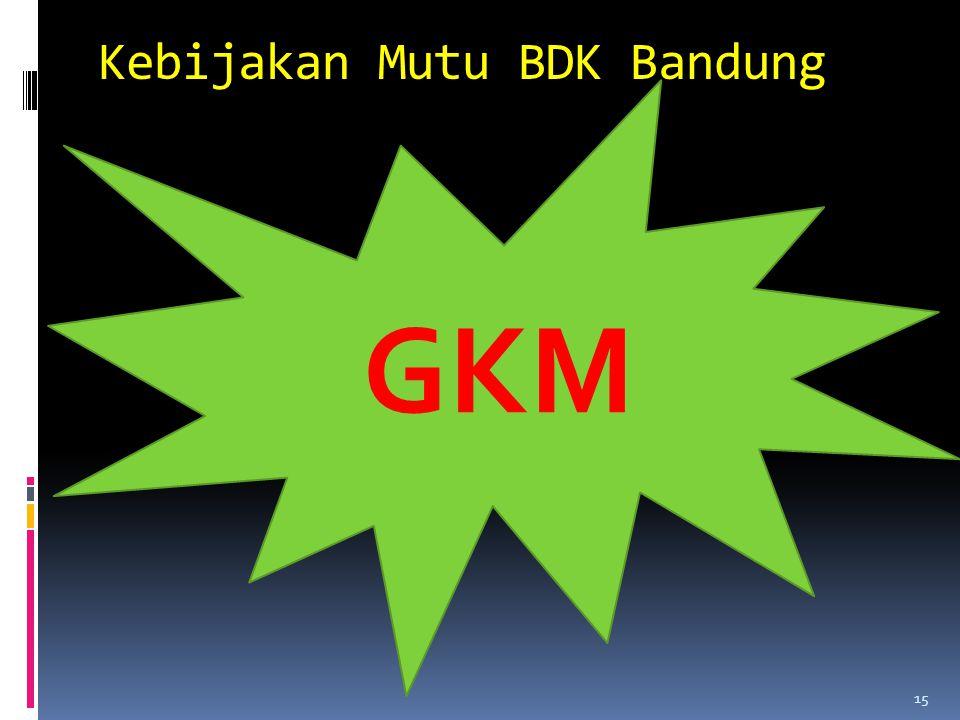 Kebijakan Mutu BDK Bandung