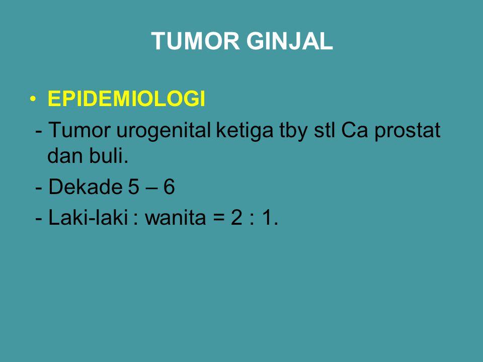 TUMOR GINJAL EPIDEMIOLOGI