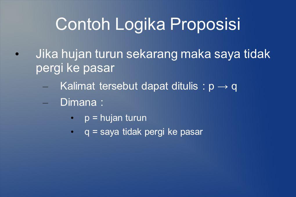 Contoh Logika Proposisi