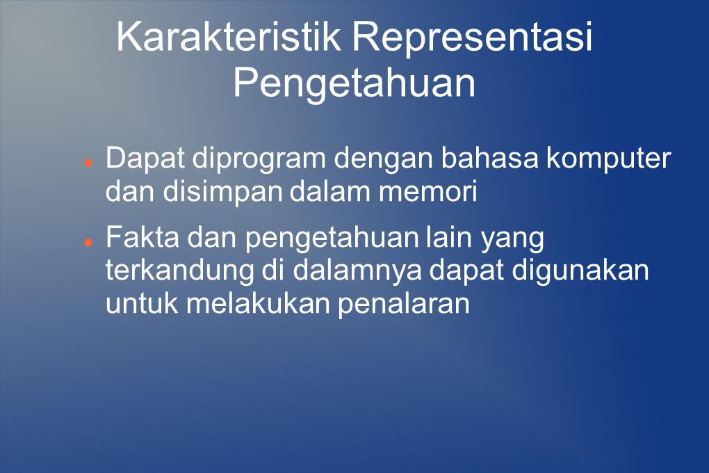 Karakteristik Representasi Pengetahuan