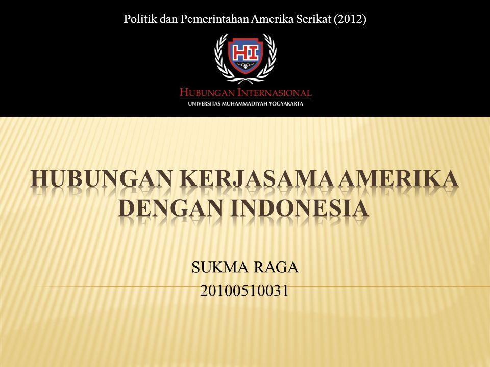 HUBUNGAN KERJASAMA AMERIKA DENGAN INDONESIA
