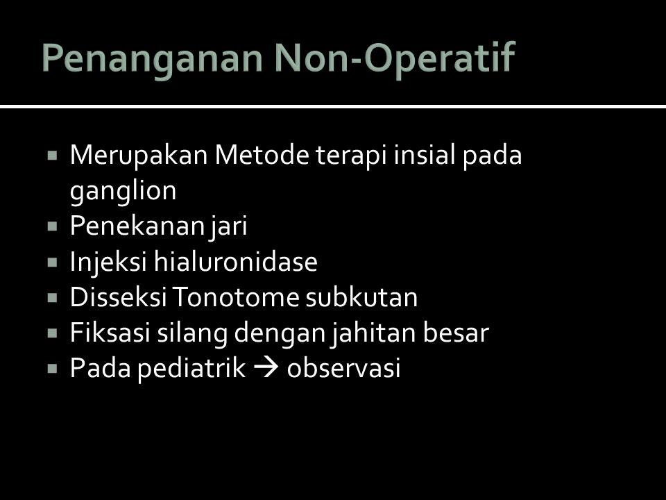 Penanganan Non-Operatif