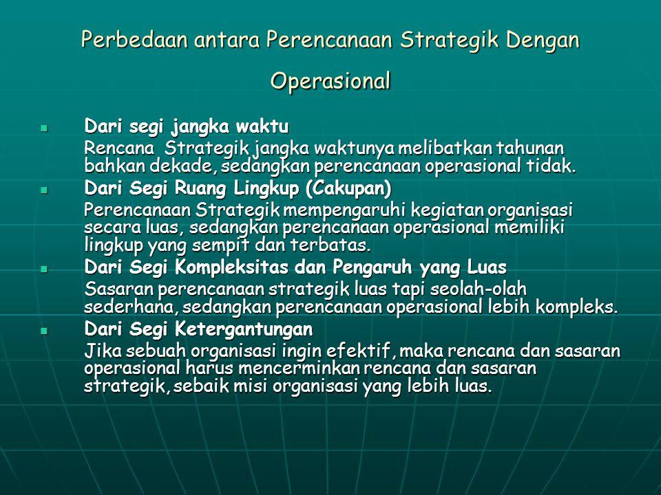 Perbedaan antara Perencanaan Strategik Dengan Operasional
