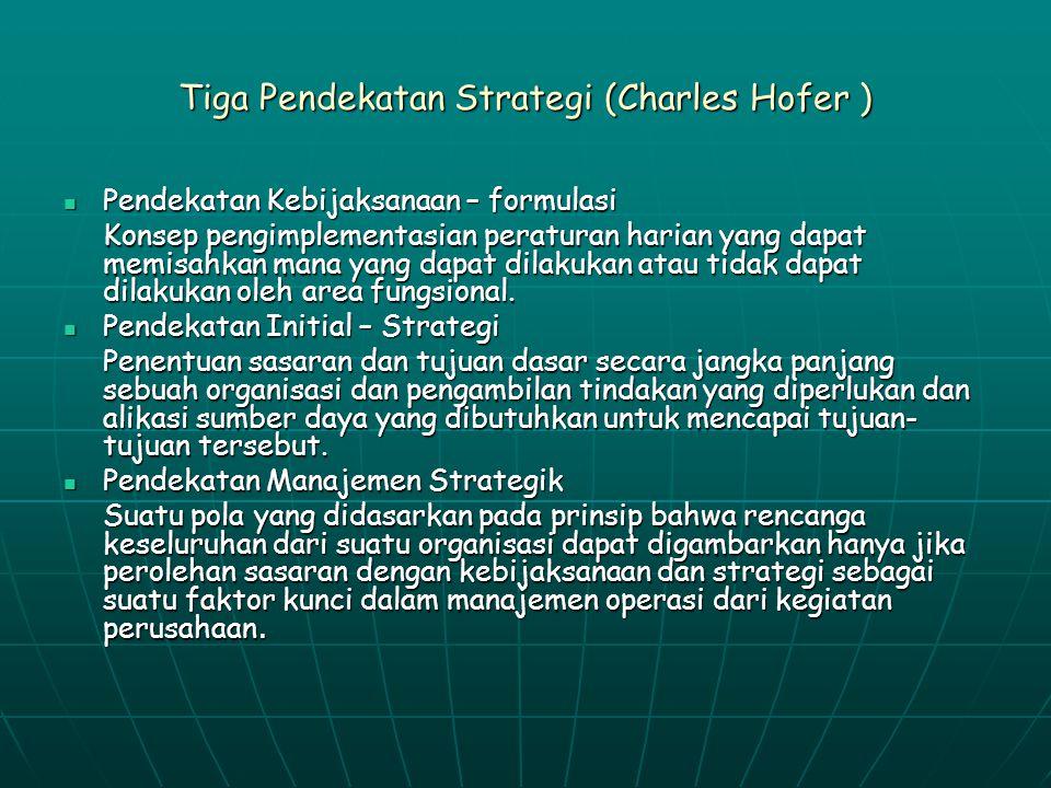 Tiga Pendekatan Strategi (Charles Hofer )