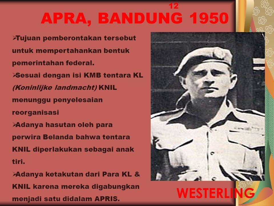 APRA, BANDUNG 1950 WESTERLING