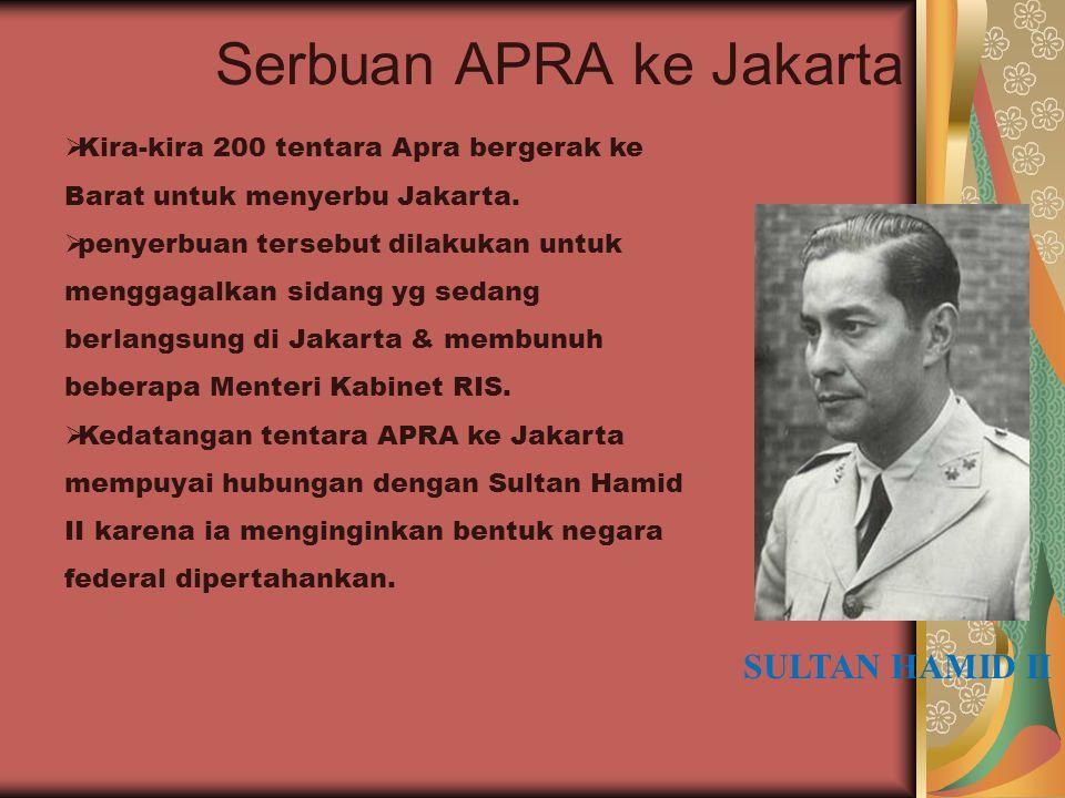 Serbuan APRA ke Jakarta