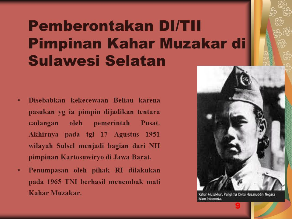 Pemberontakan DI/TII Pimpinan Kahar Muzakar di Sulawesi Selatan