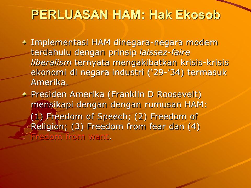 PERLUASAN HAM: Hak Ekosob