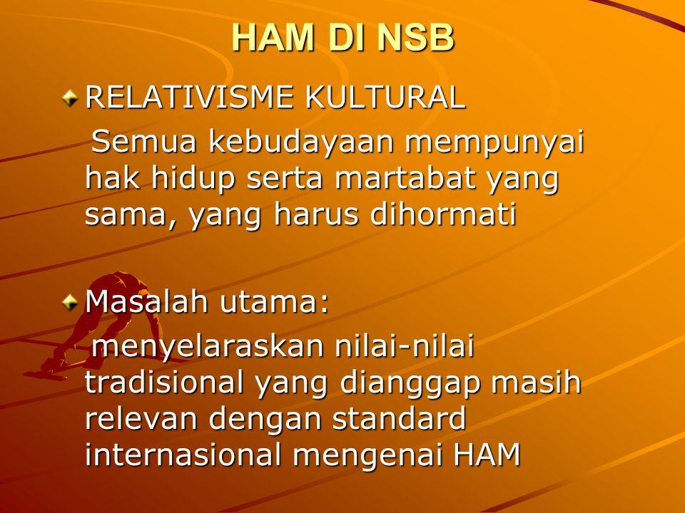 HAM DI NSB RELATIVISME KULTURAL