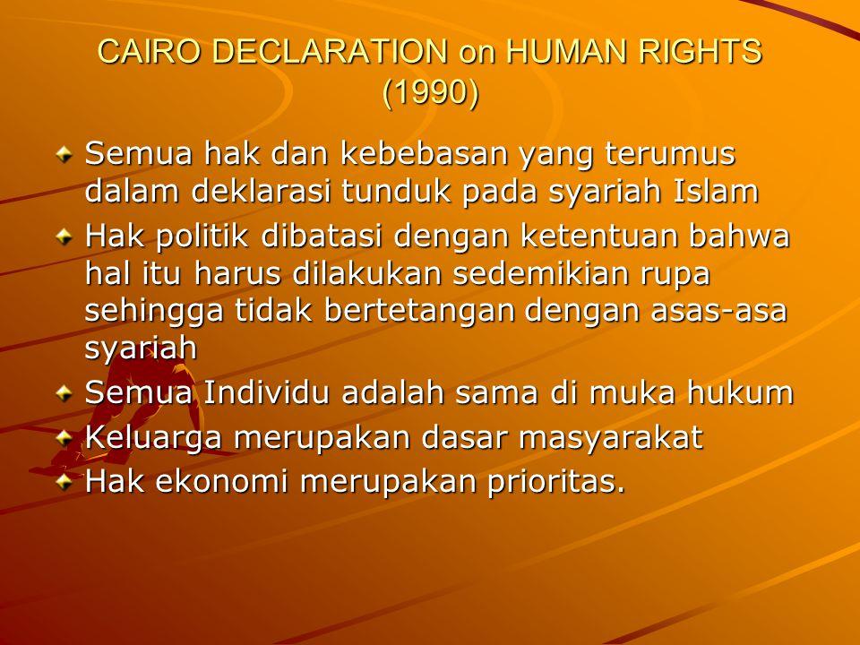 CAIRO DECLARATION on HUMAN RIGHTS (1990)