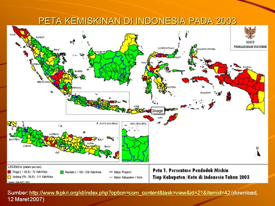 PETA KEMISKINAN DI INDONESIA PADA 2003