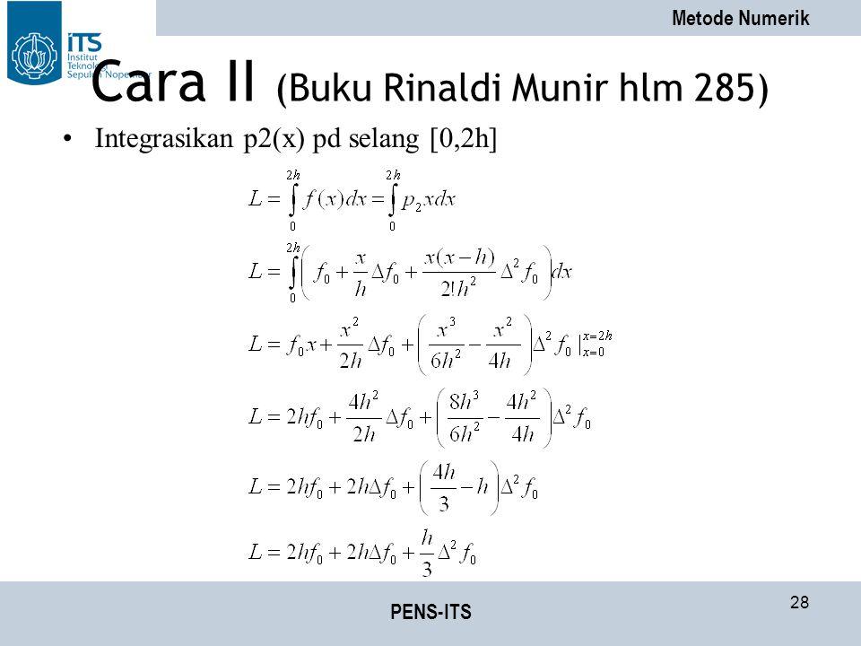 Cara II (Buku Rinaldi Munir hlm 285)
