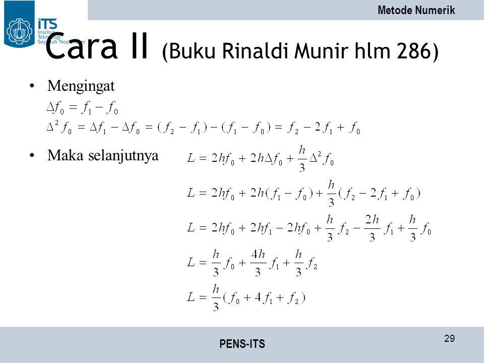 Cara II (Buku Rinaldi Munir hlm 286)