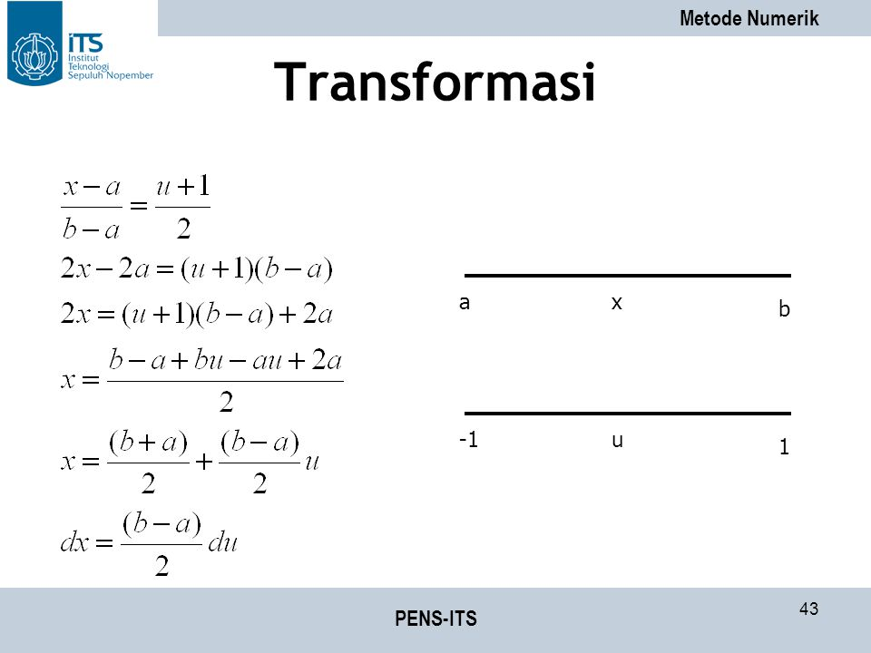 Transformasi a x b -1 u 1 PENS-ITS