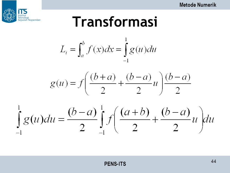 Transformasi PENS-ITS