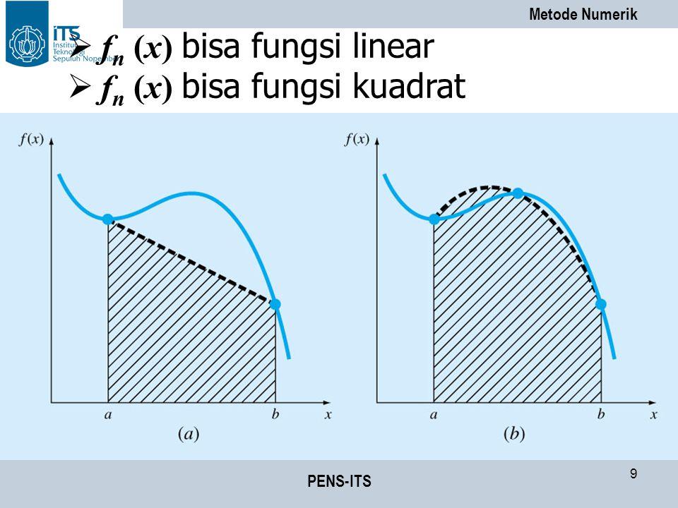 fn (x) bisa fungsi linear fn (x) bisa fungsi kuadrat