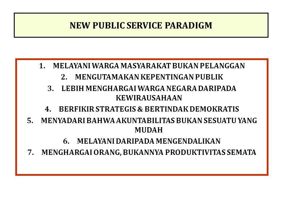 NEW PUBLIC SERVICE PARADIGM