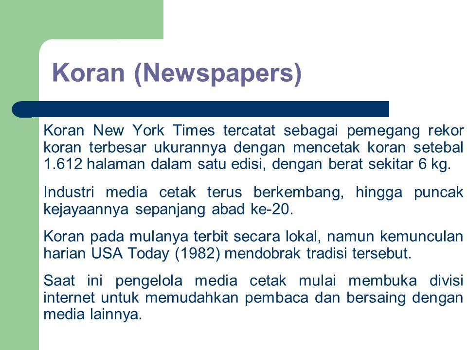Koran (Newspapers)