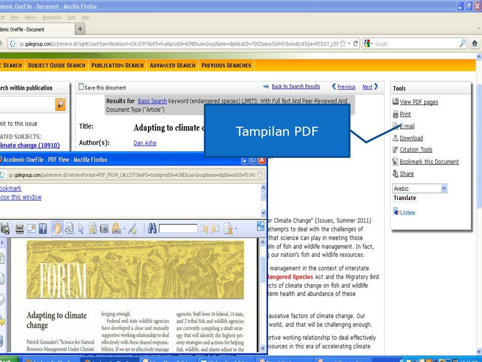 Tampilan PDF