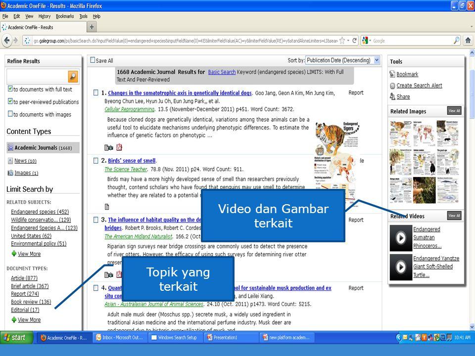 Video dan Gambar terkait