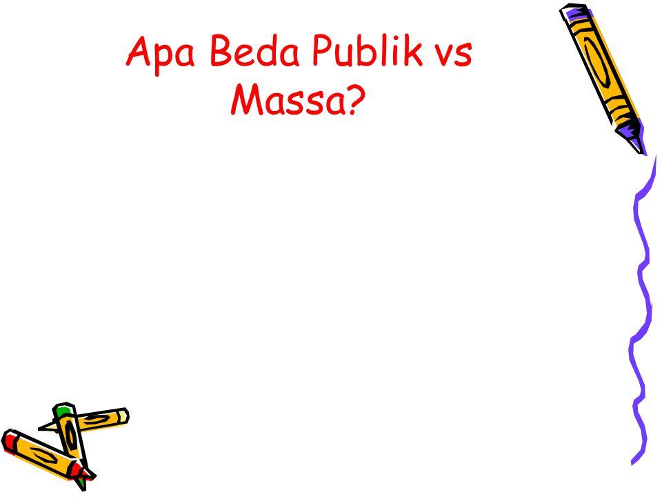 Apa Beda Publik vs Massa