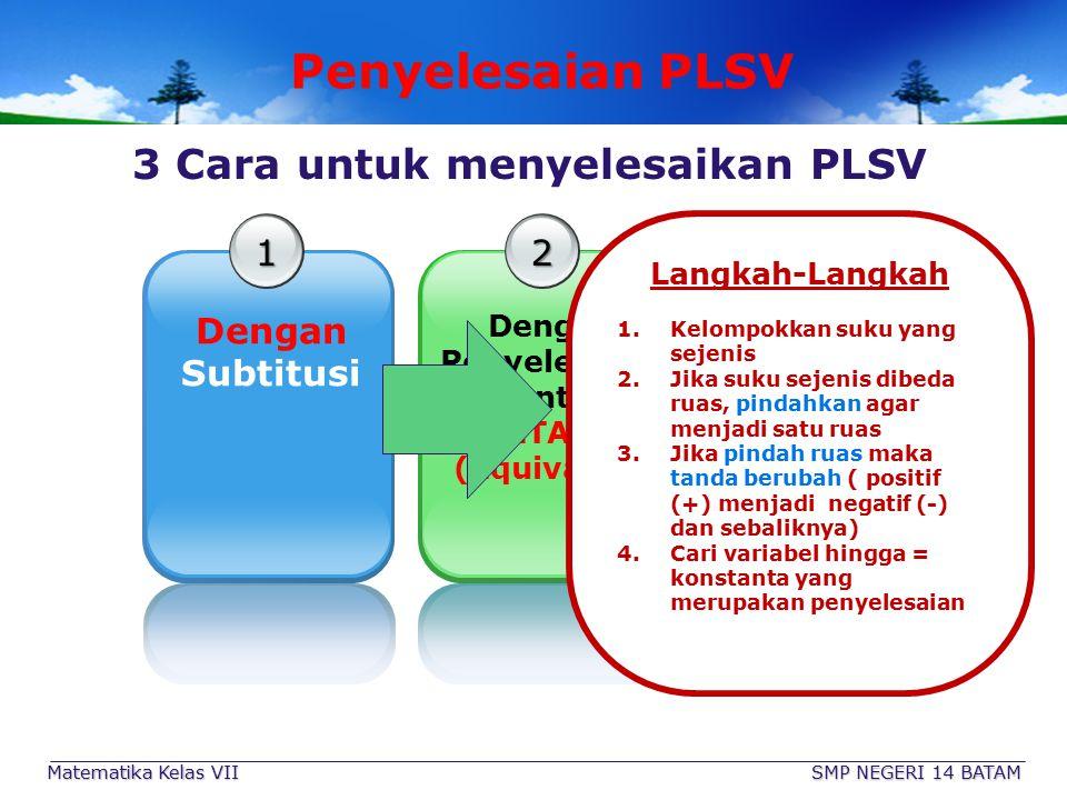 3 Cara untuk menyelesaikan PLSV