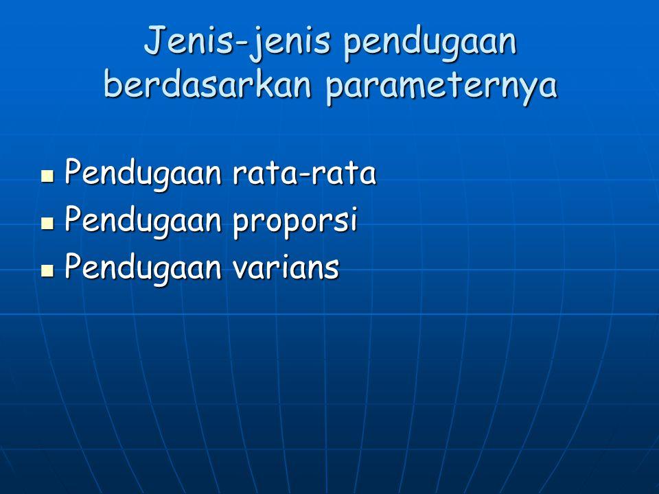 Jenis-jenis pendugaan berdasarkan parameternya