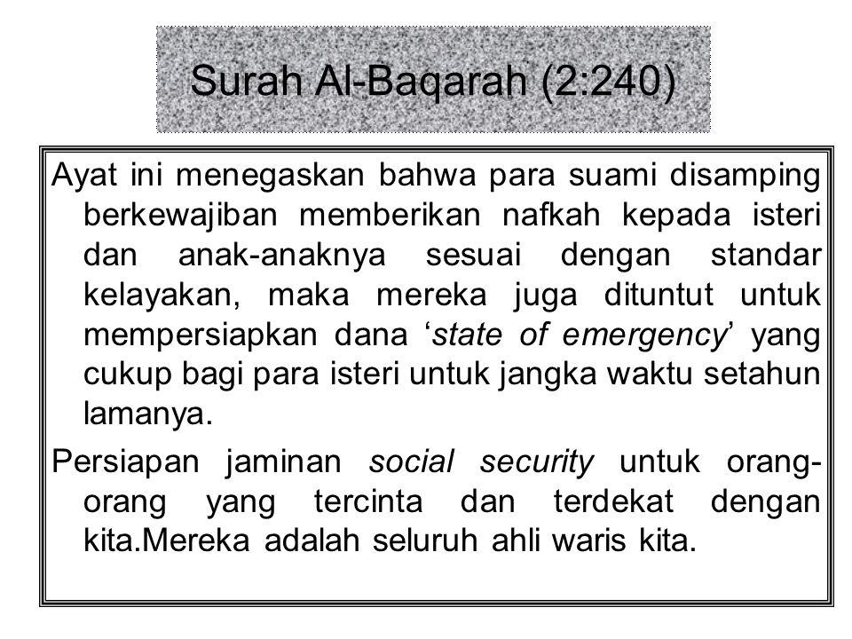 Surah Al-Baqarah (2:240)