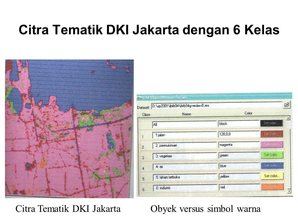 Citra Tematik DKI Jakarta dengan 6 Kelas