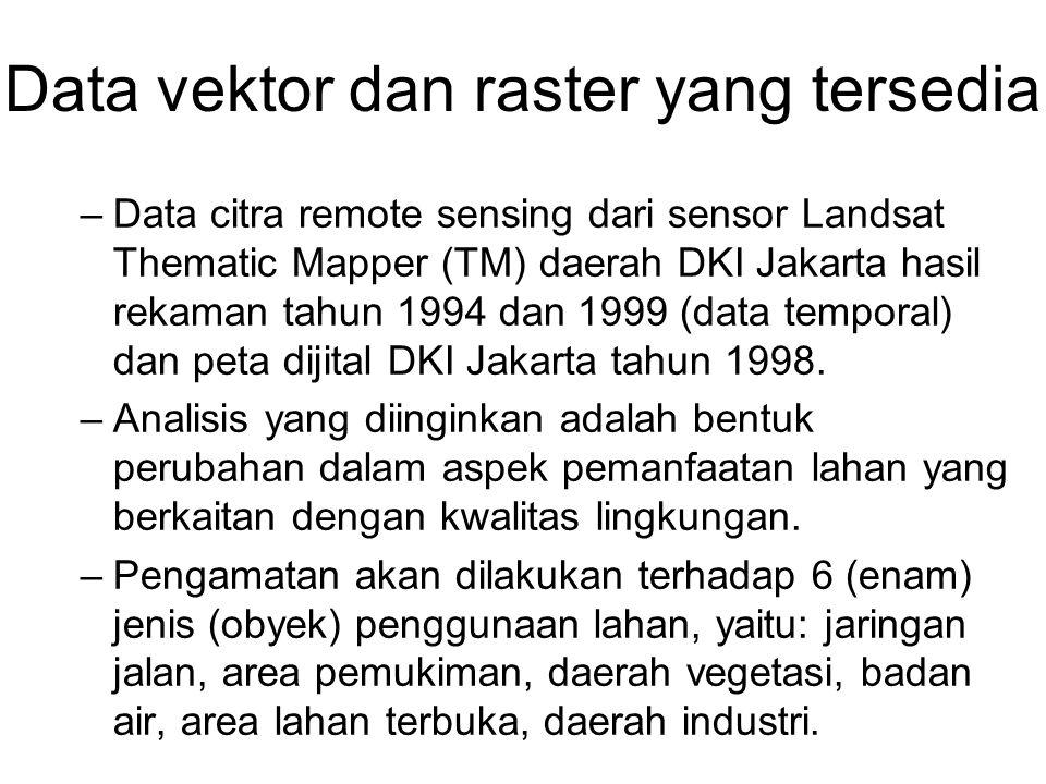Data vektor dan raster yang tersedia