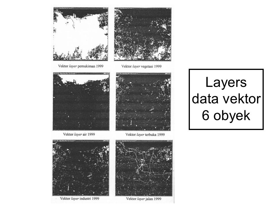 Layers data vektor 6 obyek