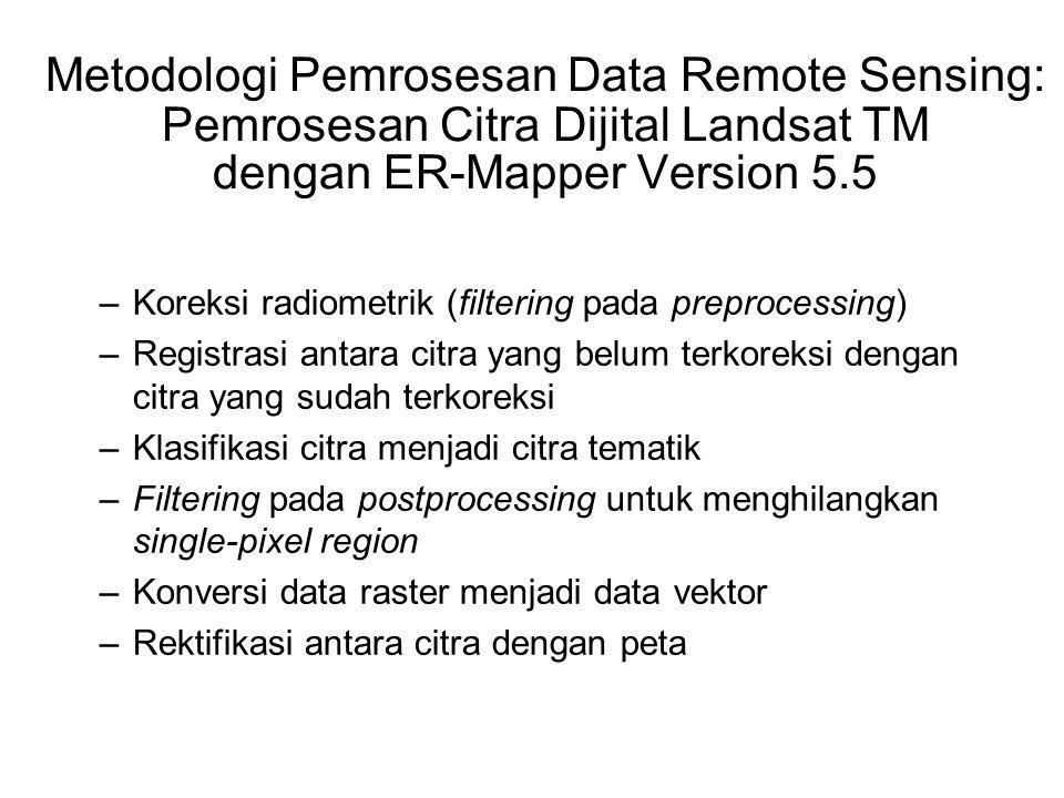 Metodologi Pemrosesan Data Remote Sensing: Pemrosesan Citra Dijital Landsat TM dengan ER-Mapper Version 5.5