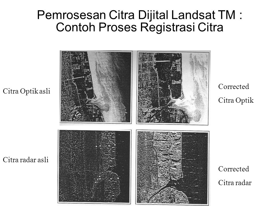 Pemrosesan Citra Dijital Landsat TM : Contoh Proses Registrasi Citra