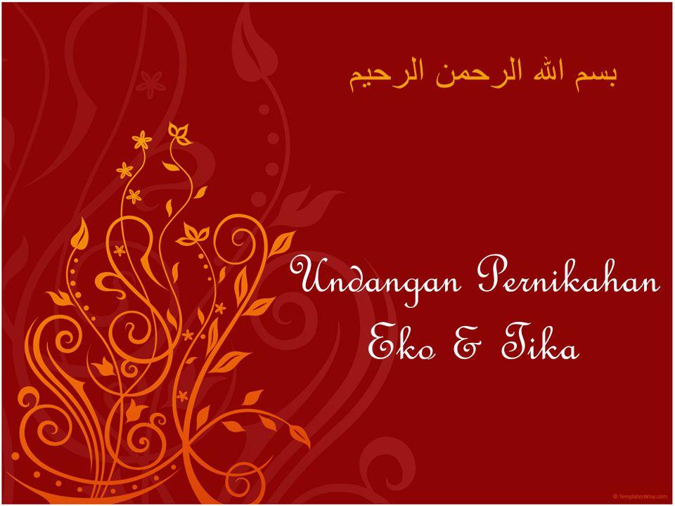 Undangan Pernikahan Eko & Tika