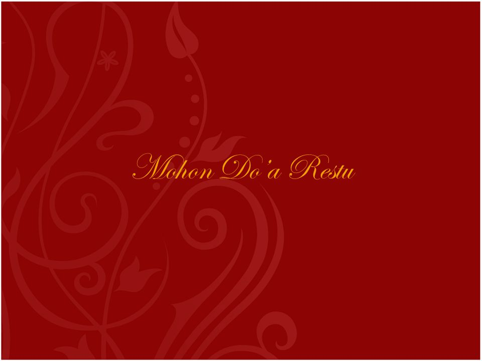 Mohon Do'a Restu