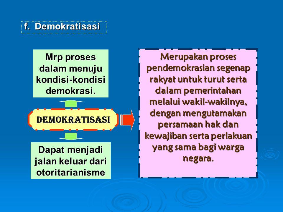 Mrp proses dalam menuju kondisi-kondisi demokrasi.