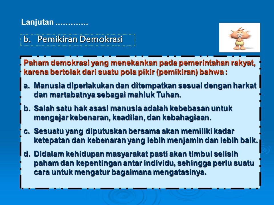Pemikiran Demokrasi Lanjutan ………….
