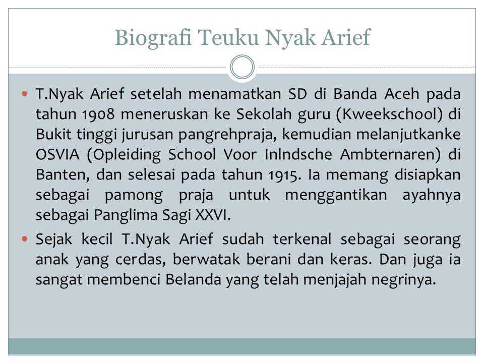 Biografi Teuku Nyak Arief