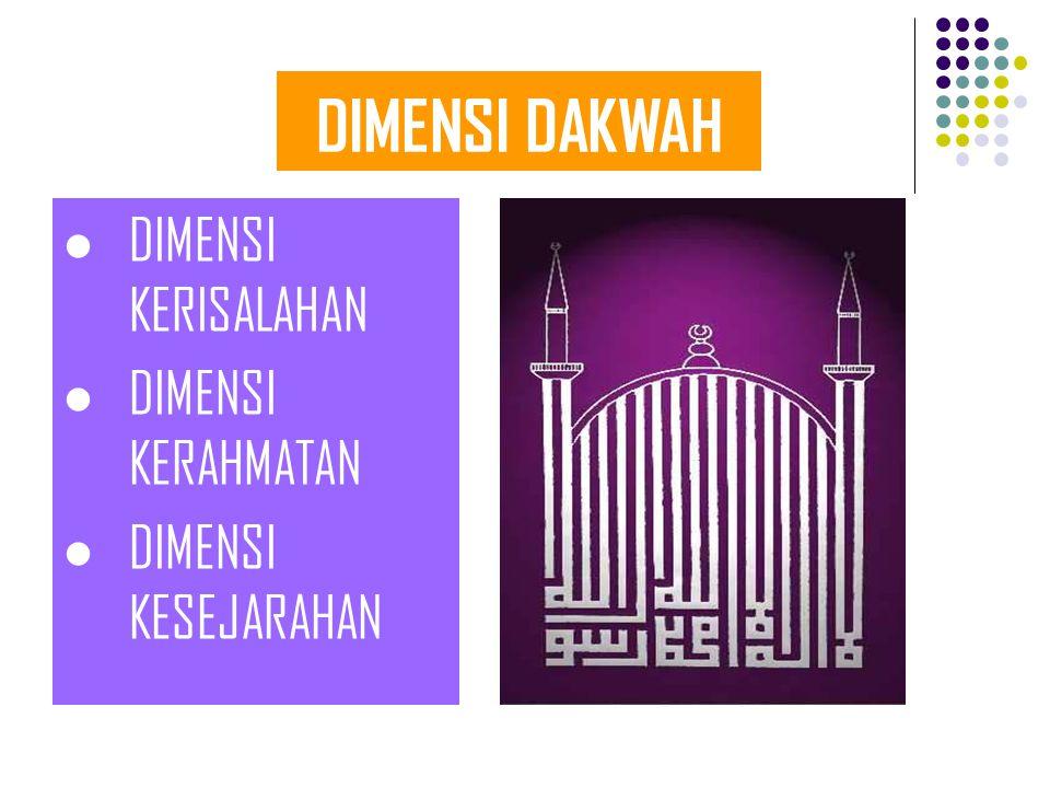 DIMENSI DAKWAH DIMENSI KERISALAHAN DIMENSI KERAHMATAN