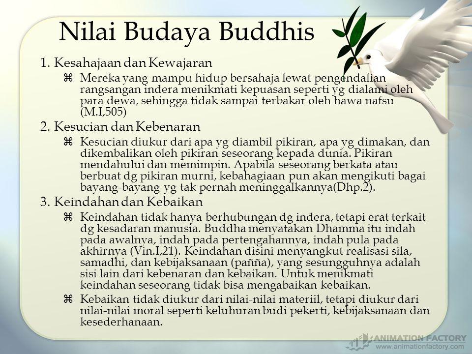 Nilai Budaya Buddhis Kesahajaan dan Kewajaran Kesucian dan Kebenaran