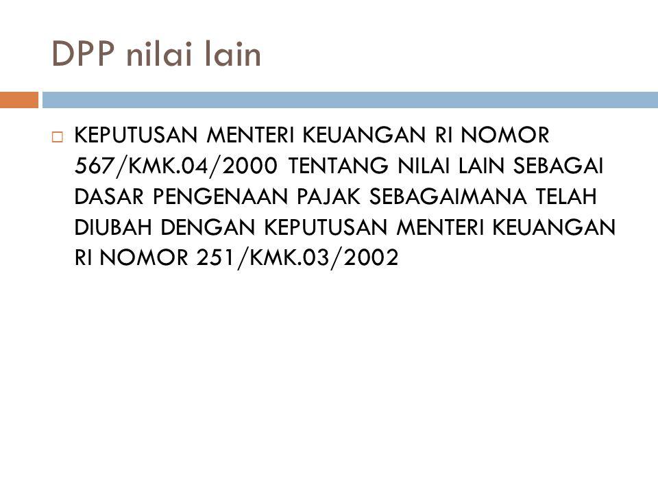 DPP nilai lain